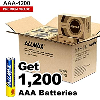 Image of AAA ALLMAX All-Powerful Alkaline Batteries - AAA Wholesale Pack (1200-Count) - Premium Grade, Ultra Long-Lasting and Leak Proof with EnergyCircle Technology (1.5 Volt)