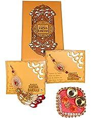 Kiraa Goodness Bhaiya Bhabhi Gift Box Rakhi for Bro Sister
