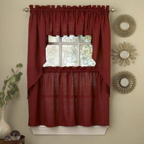Burgundy Kitchen Curtains: Burgundy Swag Curtains: Amazon.com
