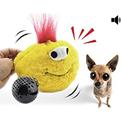 YOGADOG Interactive Plush Squeaky Dog Toys, Crazy Bouncer, Electronic motion Pet Toy for Prevent Boredom