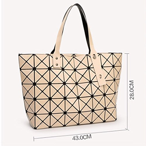 Bag Hologram 2018 Hull Bag Geometric Diamond Shoulder Women Design Pu Pxudb Blue Fashion Handbag Purse Party d0Hxwvq11