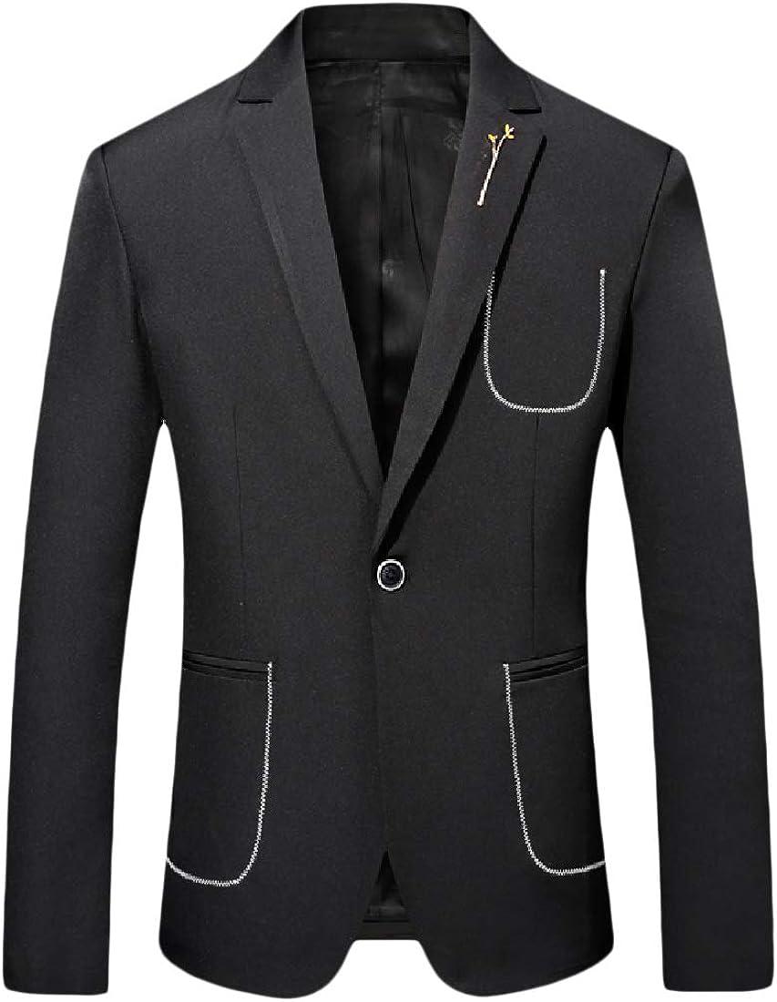 WSPLYSPJY Mens Blazer Slim Fit Mandarin Collar Wedding Coats