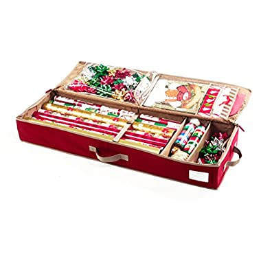 CoverMates – Holiday 42  Structured Christmas Gift Wrap Storage Organizer – Elite Plus Collection – 3 YR Warranty – Year Around Protection