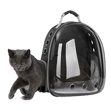 7098c8f9483935 UEETEK キャリーバッグ 猫 宇宙船 キャリーバッグ 犬猫 リュック 360度透明窓 カプセル
