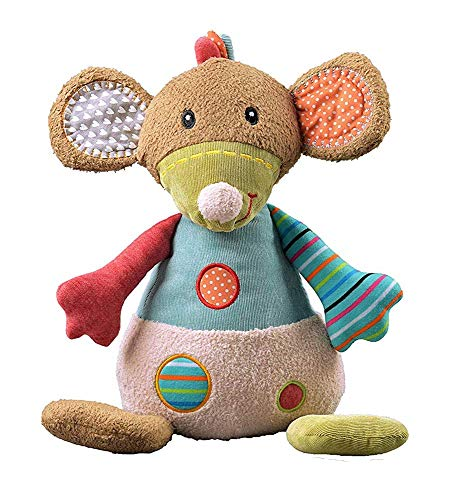 """STORKI Large Mouse Rattle Plush Toy for Babies, Soft Stuffed Animal Gift for Kids 15.7"""""""