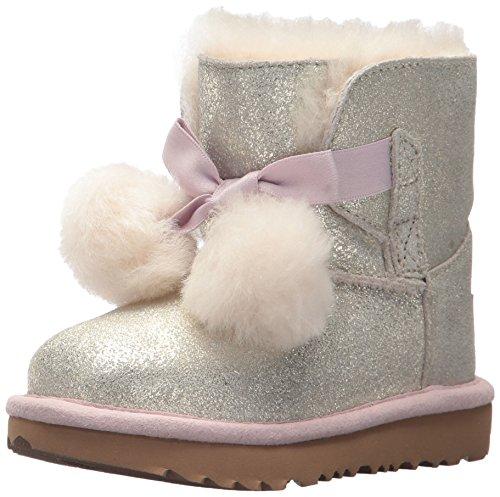 UGG Girls T Gita Metallic Pull-on Boot, Gold,