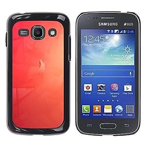 A-type Arte & diseño plástico duro Fundas Cover Cubre Hard Case Cover para Samsung Galaxy Ace 3 (Red Wave)