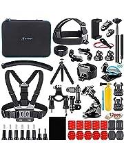 Artman Action Camera Accessories Kit 58-in-1 for GoPro Hero 9 8 Gopro MAX Gopro 7 6 5 Session 4 3+ 3 2 1 Black Silver SJ4000/ SJ5000/ SJ6000 DJI OSMO Action DBPOWER AKASO Xiaomi Yi APEMAN