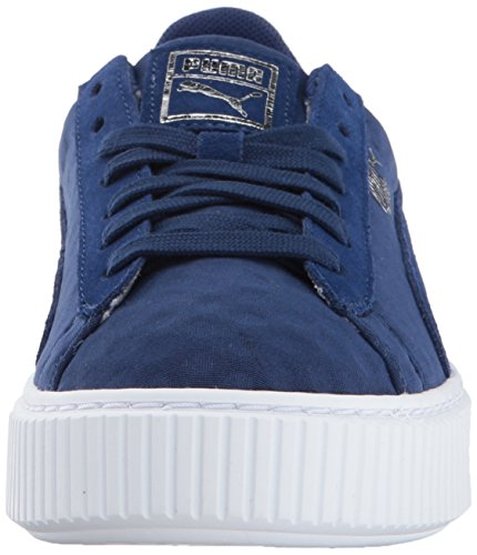 Puma Vrouwen Mand Platform De Wn Sneaker Blauw Diepte-blauwe Diepten
