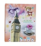 WEI LONG Photo Album Hold 200 Pockets, 4''x 6'' Photos, (Bell Tower)