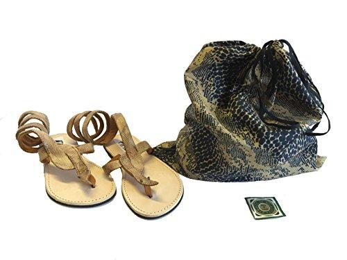 Oro Donna Sisi Snake Collezione Sandali Kenya Infradito Serpente Originali Mbili Etnici rr6qzw