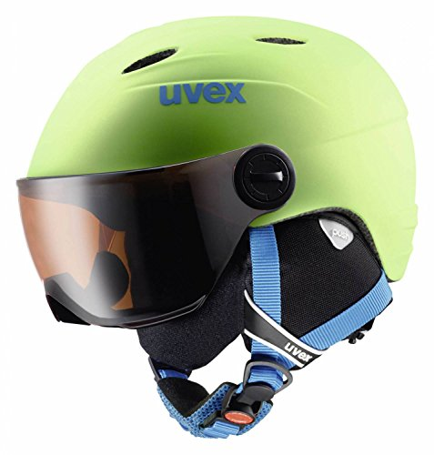 UVEX Kinder Junior Visor Pro Skihelm, Applegreen Mat, 54-56 cm