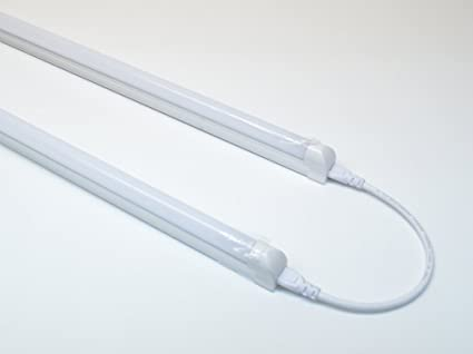 2) White 4-foot Integrated T5 LED Tube Light Fixture - SMD2835 ...
