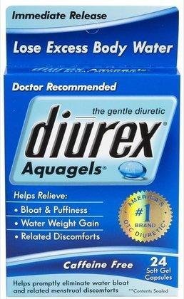 Diurex Aquagels Soft Gel Caps, 24 ct (Quantity of 3)