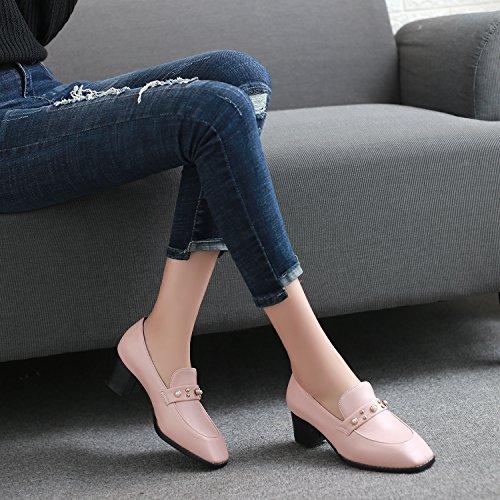 luce in sesso delle luce di scarpe dimensioni Primavera studenti scarpe powderred singolo Moda femminile aF48pT