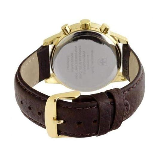 Amazon.com: Swiss military Mens Analog Quartz Watch with Leather Bracelet SM30052.05: Watches