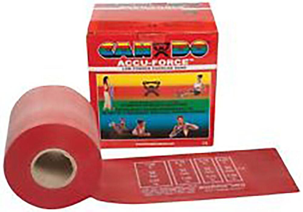 CanDo 100 Yard Roll Band Twin-Paks, Light, Latex, Red