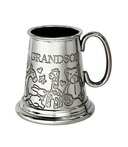 - Wentworth Pewter - Grandson Pewter Baby Mug, Gift, Keepsake