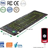 HealthyLine Far Infrared Heating Mat 72″x24″|Natural Jade & Tourmaline, Heat Therapy |Physical Therapy​ ​Heated Negative Ions (Light)|Relieves Sore Muscles, Joints, Arthritis| US FDA Registered