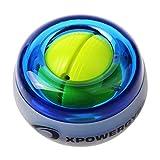 RESBO Wrist Trainer Gyro Ball Hand Spinner Gyroscopic Ball Arm Strengthener Forearms Exerciser PlasticType with LED Light