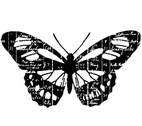 Scripted Ledger Butterfly Insect Stampington And Co Wooden Rubber ()