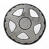 One Grace Place 10-20030 Teyo's Tires-Tire Pillow, Black, White, Grey, Orange