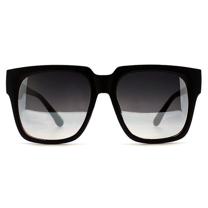 c6ae446f52fa1 Quay Australia On the Prowl 55mm Oversize Square Sunglasses in Black Silver  Mirror (Black