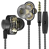 COCOCAT HR-007 Twin Driver High Resolution Heavy Bass In-Ear Headphones with Microphone and Remote for iOS Android - with Premium Foam Earbud Tips for Sport and Isolation Plus Sound