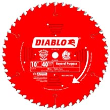 Freud D1040X Diablo 10-Inch 40-Tooth ATB General Purpose Saw Blade with 5/8-Inch Arbor and PermaShield Coating, (D1040X)