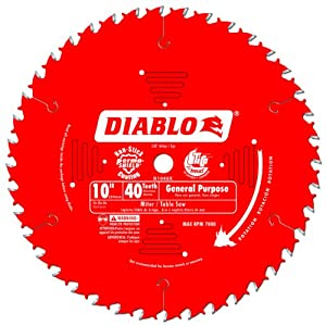 Freud D1040X Diablo 10-Inch 40-Tooth ATB General Purpose Saw Blade with 5/8-Inch Arbor and PermaShield Coating