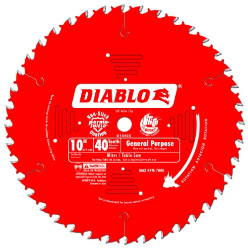 Freud D1040X Diablo 10-Inch 40-Tooth ATB General Purpose Saw Blade with 5/8-Inch Arbor and PermaShield - Outlets Premium Connecticut