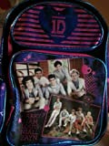 "1d One Direction 16"" Large Backpack Harry, Liam, Louis, Niall, Zayn with a free gift!"