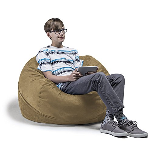 Jaxx 3 ft Bean Bag Chair with Removable Cover, Camel