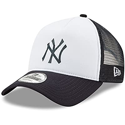 New York Yankees New Era Trucker Hit A-Frame 9FORTY Adjustable Snapback Hat White/Navy