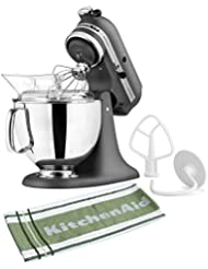 KitchenAid KSM150PSGR Artisan Series Imperial Grey Stand Mixer with Free 131227/JKT/KT5878 Kitchen