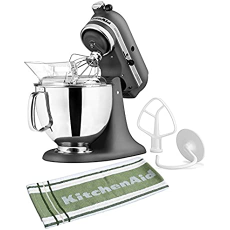 KitchenAid Artisan Series Imperial Grey Stand Mixer With Free Kitchen Towel