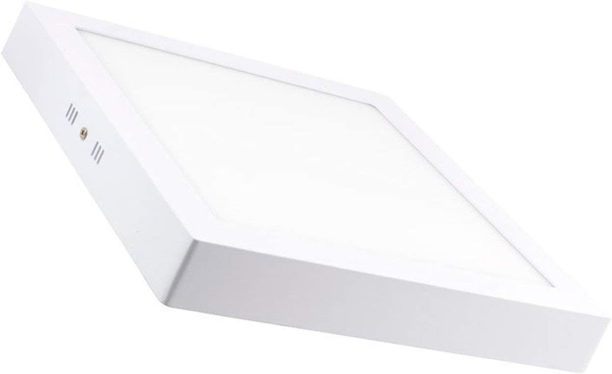 LEDKIA LIGHTING Plafón LED Cuadrado 24W Blanco Cálido 2800K - 3200K: Amazon.es: Iluminación