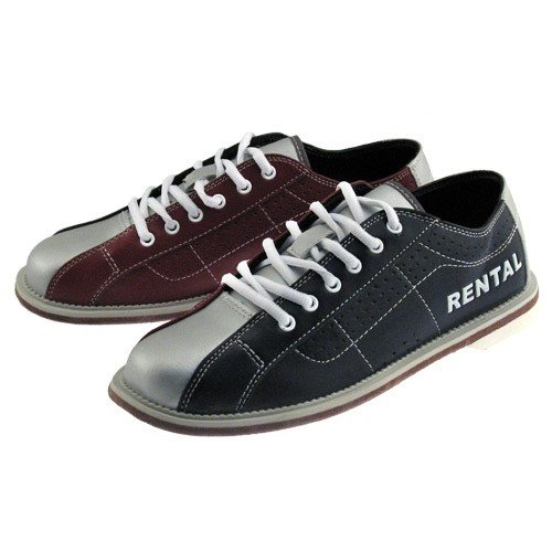 Bowlerstore Classic Mens Rental Bowling Shoes (7 M US, Blue/Red/Silver) by Classic