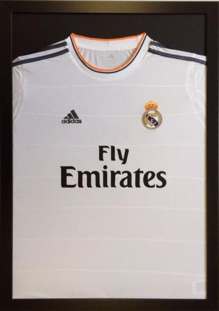 Scatter Box Kit para enmarcar camisetas negro - blanco o negro soporte de móvil para de fútbol firmadas por Francesco Rugby de críquet-camiseta de manga corta Classic: Amazon.es: Hogar