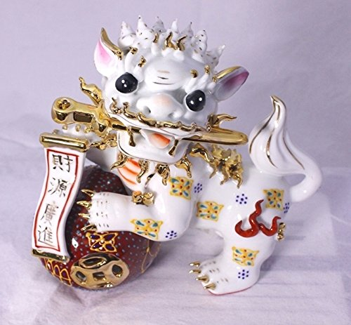 Feng Shui Foo Dog Chinese Guardian Lion -Hand Crafted and Decorated Chinese Porcelain,figurine 6041 (1)