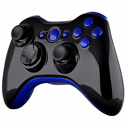 mod-freakz-shell-button-kit-gloss-collection-blue-and-black-not-a-controller-for-xbox-360-controller
