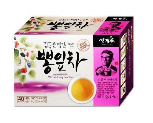Mulberry Leaves Tea 1g X 40 Tea Bags, Korean Herb Leaves