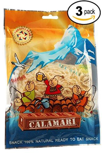Cantina Star (Calamari) Calamari Jerky, 80g, Pack of 3