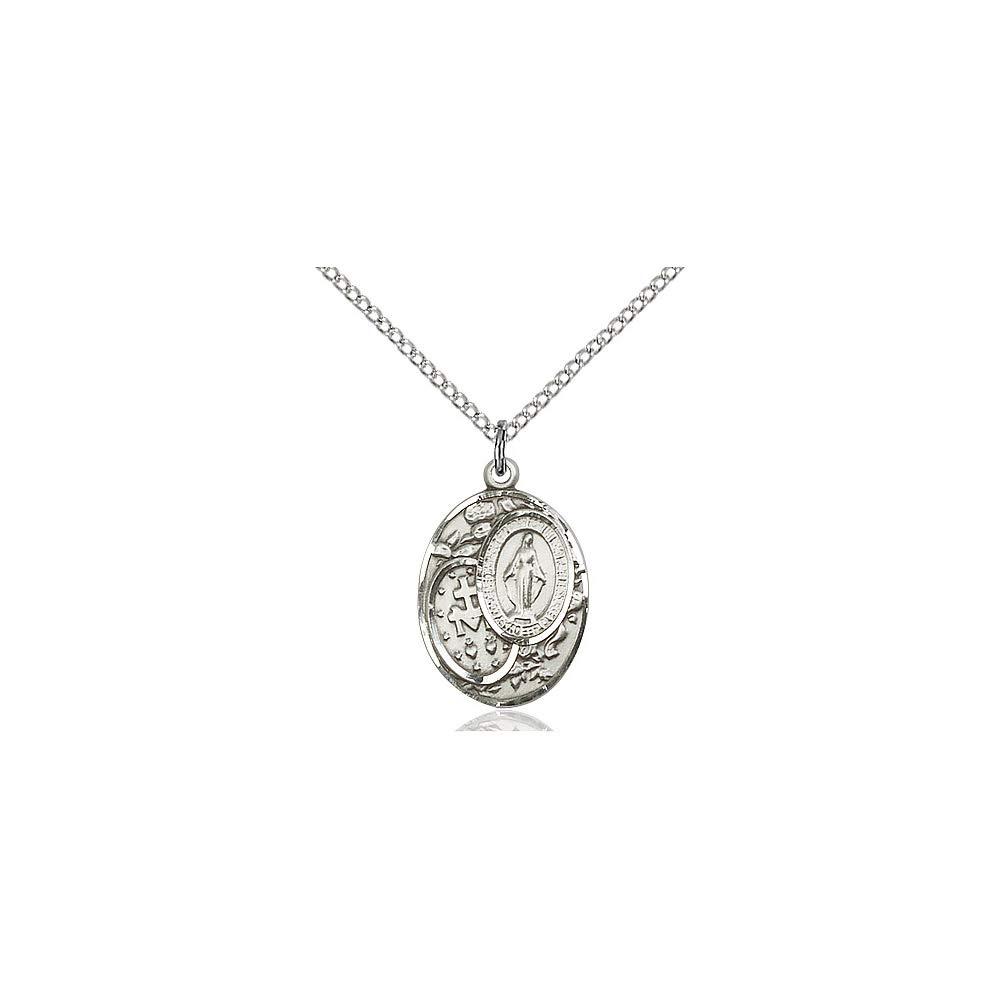 DiamondJewelryNY Sterling Silver Miraculous Pendant
