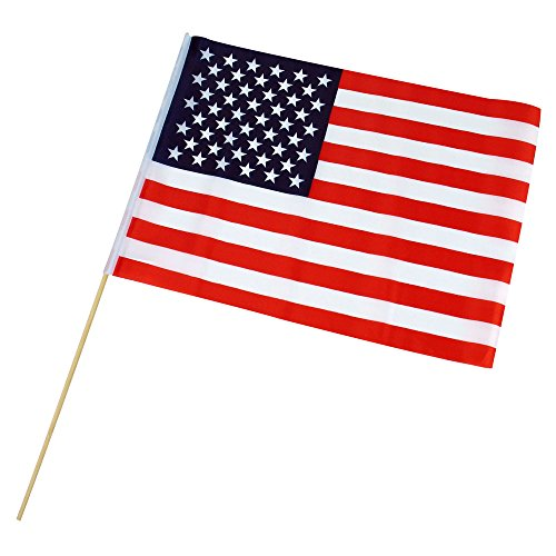 36 pieces wholesale lot of AMERICAN USA 6 INCH X 9 INCH FLAG ON -