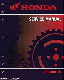 61mjm01 2014 2015 honda vfr800 f fd interceptor motorcycle service rh amazon com 2002 honda vfr 800 owners manual honda vfr 800 fi service manual