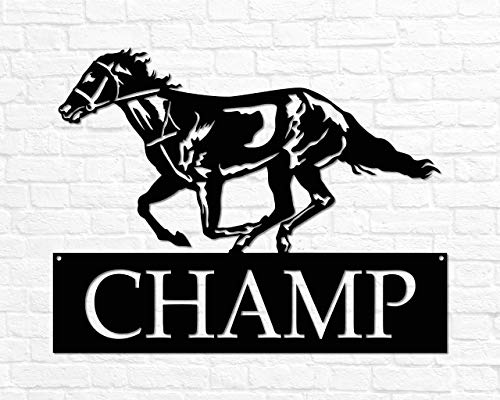 Metal Horse Sign Horse Name Sign Custom Horse Gift Personalized Horse Sign Metal Horse Wall Art Equestrian Gift Horse Rider Horse Barn Decor