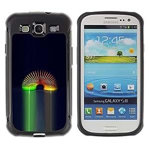 iKiki Tech / Estuche rígido - Rainbow Toy Space Universe Wormhole Spring - Samsung Galaxy S3 I9300