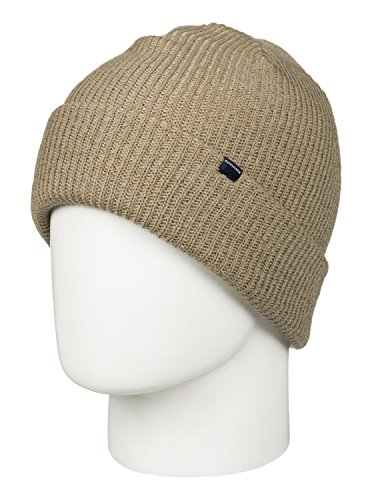 Quiksilver Snow Men's Preference 17 Beanie, Elmwood, One (Quiksilver Clothing Mens Beanie)