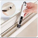 Okayji Corners & Edges Dust Cleaning brush For Window Frame, Keyboard With mini Dustpan, Black